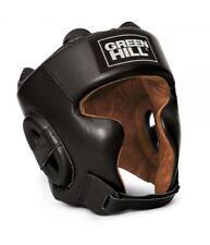 GreenHill Boxing Headgear  SPARTAN Leather BLACK