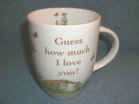 "KONITZ "" GUESS HOW MUCH I LOVE YOU "" BUNNY RABBITS COFFEE CUP MUG - 2008 GERMANY"