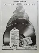 1920 Pathe Phonograph is Supreme Merry Christmas Xmas to You Ad