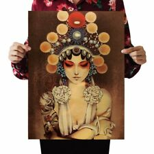 US SELLER- Chinese Opera Mulan kraft paper retro poster ideas for the bedroom
