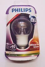 5 Stück Philips LED E27 Glühlampenform 6 W = 40 W Warmweiß 60 mm x 110 mm A+