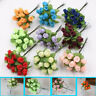 Home Decoration  Artificial Flower Handmade Simulated Rose  Mini Silk Bouquet
