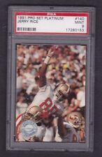 """1991 JERRY RICE - Pro Set Platinum"""" PSA 9 """" Card # 140 - San Francisco 49ers"""