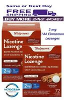 2 Pack Walgreens Nicotine Lozenge 2 mg 72 Ct. Cinnamon Flavor Compared Nicorette