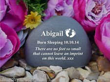 Personalised Pebble (Stone effect) - Personalised - Weatherproof - Baby Feet