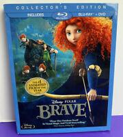 Disney Pixar Brave Princess Merida Blu-ray/DVD, 2012, 3-Disc Set with Slipcover