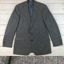 Vintage Christian Dior Mens 44 Windowpane Plaid Bespoke Tweed Coat Blazer Jacket