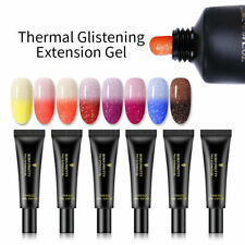 20ml Polygel Extension Builder UV Poly Gel Nail Thermal Changing Glitter Set