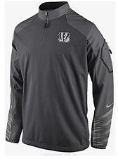 Cincinnati Bengals Nike Mens Platinum Fly Rush 1/4Zip Jacket 597624 Large $155