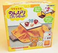 Re-ment Miniature San-X Series Rilakkuma Stove Japanese Table RARE rement Set