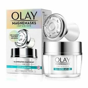 Olay White Radiance magnemasks Infusion starter kit 50g + 1 Magnetic Infuser New