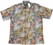 Men's TORI RICHARD Black Thatch Art Cotton Hawaiian S/S Camp Shirt M NWT $92!