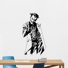 Joker Wall Decal Superheroes Vinyl Sticker Nursery Art Poster Boy Decor 221zzz