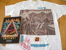 Def Leppard 3items:«Hysteria Tour1987-88 »1xT-ShirtOverSize+Badge+Book 1St Edit
