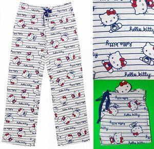 "NWT Hello Kitty ""Hello Kitty Ruled!"" cotton Pajama pants for women S,M,L,XL"