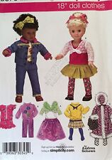 """NEW VINTAGE 2007 'SIMPLICITY' 18"""" DOLL CLOTHES PATTERN 3873"""
