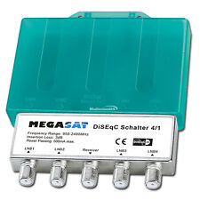 Megasat 4x1 4/1 DiSEqC Switch Sat Switch with weather protection Splitter