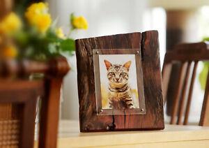 Tierurne m. Bild 9x13-13x18, Altholz-Design, Unikat, für Hund Katze+andere Tiere