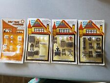 4 sets Dollhouse miniature furniture 1:48 quarter inch scale Chadwick Miller NOS