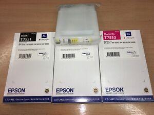 full set GENUINE EPSON T7551 T7552 T7553 T7554 ORIGINAL ink Yellow Unboxed