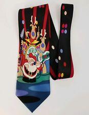 Kersten Bros Jolly Ol' Nickties Silk Christmas Tie Santa Reindeer World Tour