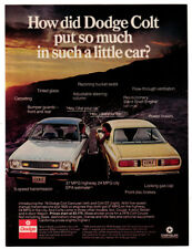 1976 DODGE Colt Vintage Original Print AD Blue and Yellow car photo sunlight USA