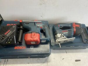 Bosch GBH 24V Hammer Drill SDS + Jigsaw 24v + 2x 24v Heavy Duty Battery