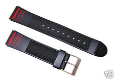 19mm Timex Triathlon Black Replacement Watch band / Strap Sport Collection