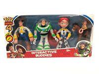 "4pcs 6"" Toy Story Woody Buzz Lightyear Jessie Action Figure BOX Set LED Light UK"