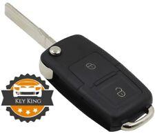 VW AUDI GOLF MK4 PASSAT BORA POLO SHARAN 2 BUTTON FLIP REMOTE KEY FOB CASE BLADE