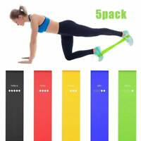 Resistance Bands Heavy Duty Assisted Pull Up Band Set 5 Fitness Exercise Loop
