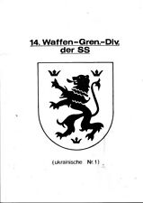 WW2 WAFFEN SS GERMANY EBOOK ON CD 14^UCRAINIAN DIVISION  DIVISION PIONIER