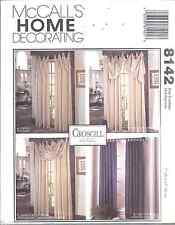 8142 UNCUT Vintage McCalls SEWING Pattern Croscill Window Treatments Panels OOP