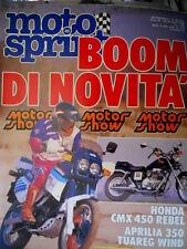 Motosprint 49 1986 Test Honda CMX 450 Rebel, Aprilia 350 Tuareg Wind. [Q78]