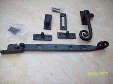 black antique cast iron window casement stay + fastener