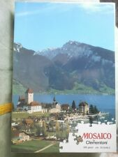 PUZZLE MOSAICO PZ. 500 CLEMENTONI CASTELLO DI SPIEZ SVIZZERA CM. 48,5 X 33,5