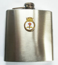 COMMANDO HELICOPTER FORCE ROUND BADGE HIP FLASK