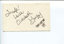 Elizabeth Manley Canada Olympic Silver Figure Skater Signed Autograph