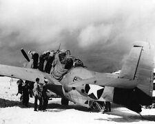 WWII Photo US Navy Avenger Survivor Midway VT-8   WW2 B&W World War Two / 5106