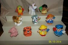 Fisher Price Little People Lot of 10 Unicorn Tiger Jungle Touch Feel Cat More