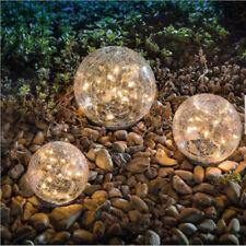 Solar Garden Lights Glass Globe Fairy String Lights, Outdoor Tabletop Lights