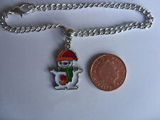 enamel snowman charm bracelet