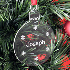 Personalised Christmas Child Tree Decoration Bauble Gift Present