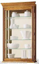 Howard Miller 685-106 Montreal - Golden Oak Wall Hanging Curio Collector Cabinet