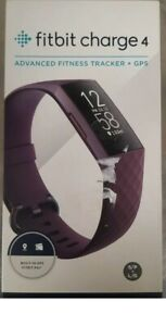 Fitbit - Charge 4 Activity Tracker GPS + Heart Rate - Purple