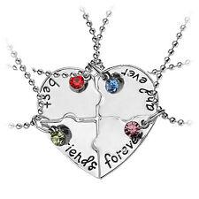 4 Pcs/set best friend forever and ever Necklaces Heart Shape Puzzle Necklaces