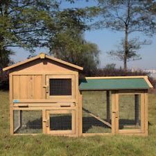 "New listing Chicken Coop 58"" Backyard Hen Wooden Rabbit House Wood Hutch w/Run"