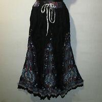 Skirt Fits S M L XL XXL Plus Broomstick Black Blue Dashiki Africa Long NWT JJ