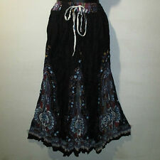 Skirt Fits S M L XL XXL Plus Broomstick Black Blue Dashiki Africa Long NWT JJ