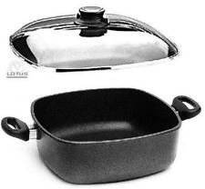Lotus - poelon en Fonte Carré - Casserole 29cm 6ltr. induction b22cm H10, 5cm+